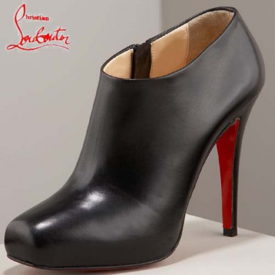 bottines cuir louboutin