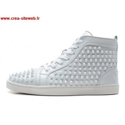 chaussure louboutin blanche homme