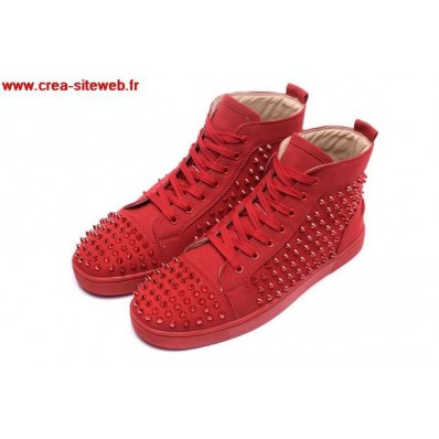 chaussures louboutin homme rouge