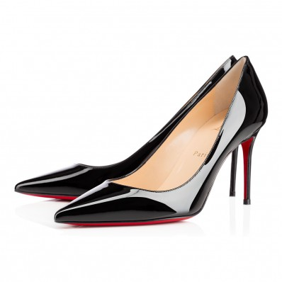 christian louboutin black pigalle 85