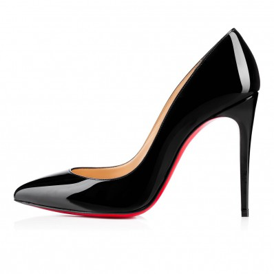 christian louboutin pigalle follies 100mm black red patent