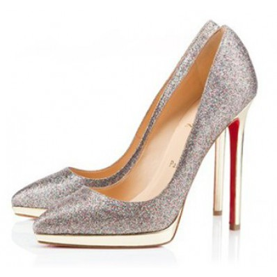 christian louboutin pigalle plato 120 glitter pumps gold