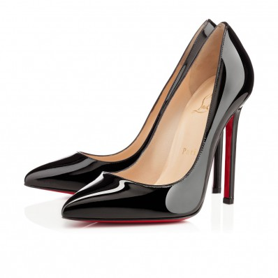 christian louboutin pigalle red sole pump black patent