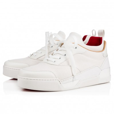 louboutin basse homme blanche