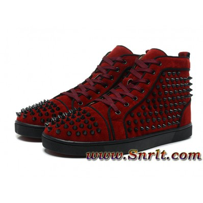 louboutin homme basket rouge