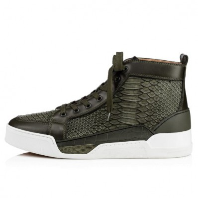 louboutin homme grise