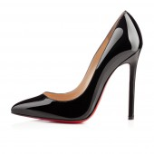 christian louboutin pigalle 120 patent black pumps