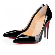 louboutin pigalle black patent 100