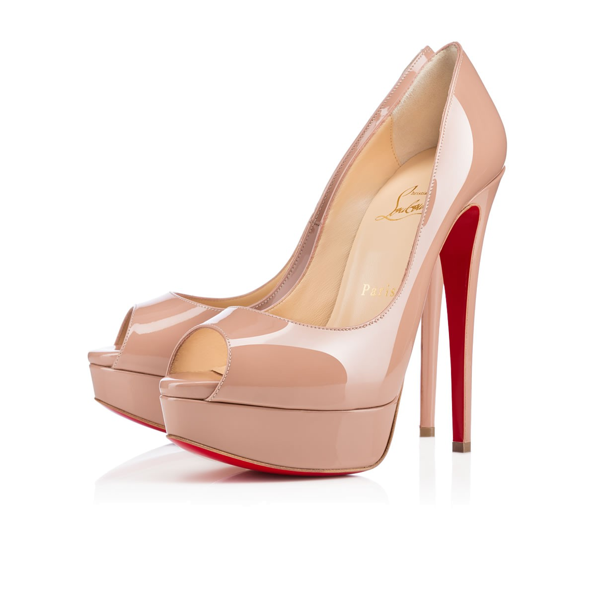 chaussure louboutin femme beige