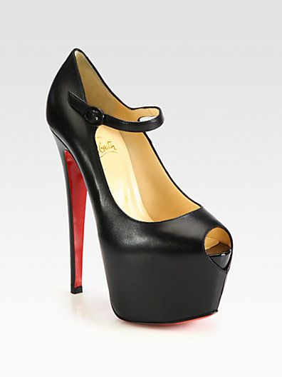 christian louboutin lady highness suede mary jane platform pumps