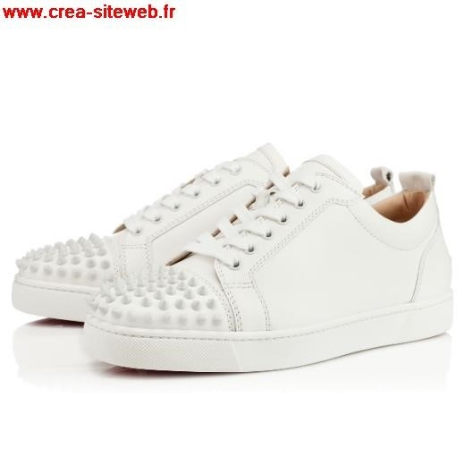 louboutin blanche homme basse