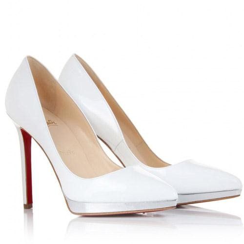 louboutin chaussures blanches