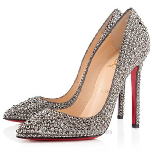louboutin strass argent
